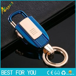 electronic lighters jobon Canada - New hot Jobon Key Chains USB Lighters Key Ring USB Cigarette Lighters Gift Keychains USB Lighters Heating Wire Ignition