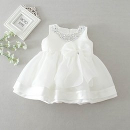 $enCountryForm.capitalKeyWord NZ - 2016 New Baby Girl Wedding Dresses Bow Birthday Dress Puffy Party Sundress Baby Clothing 0-2T 8022BB