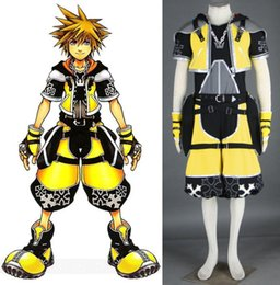 sora cosplay 2019 - Kingdom Hearts Sora yellow outfit cosplay costume halloween cheap sora cosplay