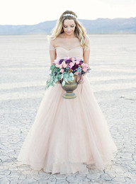 Colored wedding dresses for the beach