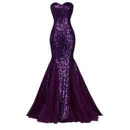 $enCountryForm.capitalKeyWord UK - New Sparkling Sequined Evening Dresses Sweetheart Mermaid Floor Length Shiny Party Gowns robe de soiree Custom Made E041