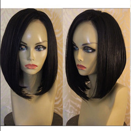 Burgundy Remy Lace Front Wigs NZ - Unprocessed Virgin Bob Lace Front Wigs   Full Lace Human Hair Wigs With Baby Hair Silky Straight Short Bob Wig For Black Women