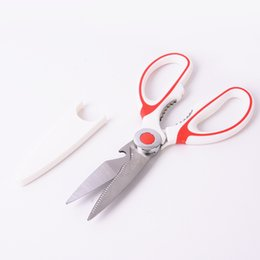 kitchen utilities NZ - DHL SEND Heavy Duty Stainless Steel Kitchen Shear Best Multi-Purpose Utility Scissors for Chicken Fish Meat Vegetables Herbs