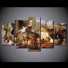 Multi Panel Canvas Prints Australia - 5 Panel HD Printed Framed Triumphal Alexander Wall Canvas Art Modern Print Painting Poster Picture For Home Decor