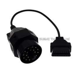 obd2 connectors UK - Good quality 20 Pin to obd2 16 Pin cable connector,OBD2 conversion plug for BMW etc.car,automobile diagnosis