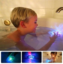 Beautiful candle light online shopping - Colorful Bathroom LED Light Toys Baby Kids Funny Bathing Toys Waterproof in Tub Light Waterproof Bath Tub Beautiful Lamp