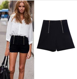 Slim Black High Waisted Shorts Online | Slim Black High Waisted ...
