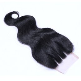 Free way curly part online shopping - 8A Full Swiss Lace Way Part Closure Bleached Knots Malaysian Body Wave Top Closure Pieces With Baby Hair