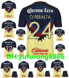 9aa55ab62 2017 2018 mexico club america soccer jerseys kit 17 18 PERALTA DOMINGUEZ  SAMBUEZA Camiseta MATHEUS URIBE LAINEZ QUINTERO football shirt cheap america  mexico ...