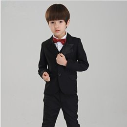 gold champagne tuxedo Australia - Boy's Formal Wear The little boy fashion dresses in black boy's suit boy wedding suits Tuxedo Formal Suit(Jacket+Pants)