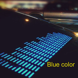 $enCountryForm.capitalKeyWord Canada - 45*11cm BLue Color El Lighted Auto Sound Activated Stickers Neon Equalizer On Car Glass DC12v Inverter With Cigarette