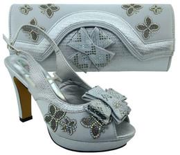 $enCountryForm.capitalKeyWord Canada - Wonderful silver african shoes match bag set with rhinestones lady bowtie shoes and handbag MM1031,heel 11.5CM