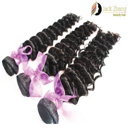 Human Hair Extensions Delivery Canada - 3bundles lot 8A Cuticle Malaysian Hair Weave 10-28inch Natural Color Unprocessed Deep Wave Human Hair Weft Extension Fast Delivery