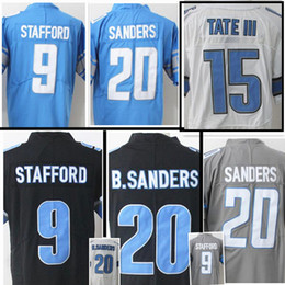d2e81adbabd ... 2017 New Style 9 Matthew Stafford Jersey Cheap 20 Barry Sanders 15 Golden  Tate III Gray ...