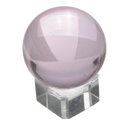 magic glass ball UK - Top Selling Hot Sale Asian Rare Natural Quartz Pure Clear Magic Glass Crystal Ball Sphere 40mm+Stand Home Decoration