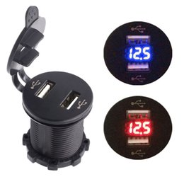 Discount car lighter sockets - New Waterproof Car Charger Vehicle Dual USB Charger Motorcycle Auto Cigarette Lighter Socket 2 Port Power Socket
