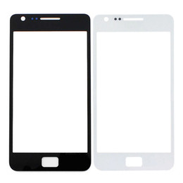 S2 Screen White NZ - New Black White Front Screen Faceplate Outer Glass Lens For Samsung Galaxy SII S2 I9100 Replacement Part