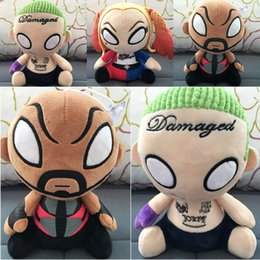Wholesale 20CM New Suicide Squad Plush Toys Harley Quinn Clown Stuff Dolls Halloween Christmas Gift Toy For Children