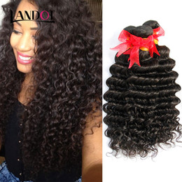 Discount 12 inch brazillian curly hair Brazilian Deep Wave Curly Virgin Human Hair Weaves Bundles Unprocessed Peruvian Malaysian Indian Cambodian Brazillian Curly Hair Extensions