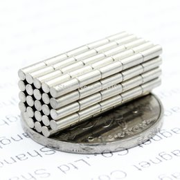 $enCountryForm.capitalKeyWord Australia - Wholesale - In Stock 100pcs Strong Round NdFeB Magnets Dia 5x10mm N35 Rare Earth Neodymium Permanent Craft DIY Magnet Free shipping