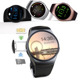 Bluetooth Smart Watch Sim Australia - KW18 Smart Watch Men Support SIM TF Card Bluetooth Call Heart Rate Pedometer Sport Waterproof Smartwatch For Android IOS MTK2502C Round Dial