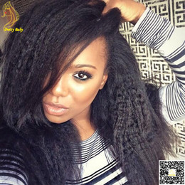 $enCountryForm.capitalKeyWord NZ - Brazilian Afro Kinky Straight Human Hair Wig Full Lace Kinky Straight Wig Unprocessed Human Hair Lace Wigs