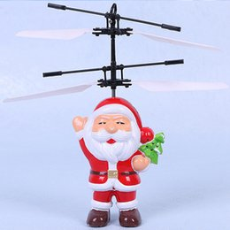 $enCountryForm.capitalKeyWord UK - Electric Infrared Sensor Flying Ball Santa Claus LED Flashing Light Toys RC Helicopter Quadcopter Drone Toy Kids Christmas Gifts