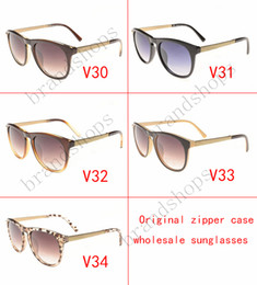 fashion shades for women Canada - Hot sell High quality Luxury vintage brands designer shade fashion oversize sunglasses for women MEN glasses with original Zipper case