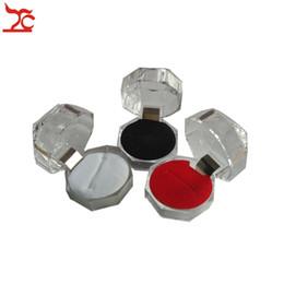 5 Pcs Acrílico Transparente Anel Caixa De Armazenamento De Cristal Anel de Diamante Brinco Organizador Pacote de Exibição Caixa de Presente 4 * 4 * 4 cm 3 cores Disponíveis em Promoção