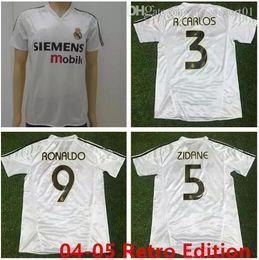 2004 2005 real madrid jersey retro vintage classic 04 05 ZIDANE BECKHAM  RONALDO CARLOS RAUL camisetas futbol maillot de foot free shipping 20a9dee0c