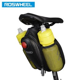 water bottle bags NZ - ROSWHEEL Bike Tail Bag Seatpost Pouch Bicycle Saddle Seat Post Storage Cycling MTB Road Bike Rear Pannier to hold water bottle