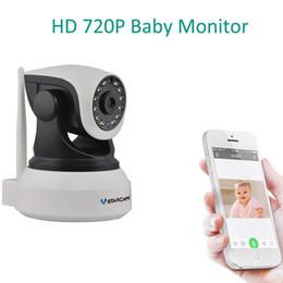 Baby Monitor Infrared Canada - HD 720P Video Baby Monitor Wireless WiFi IR Video Talk Intercom IP Camera With Night Vision Audio