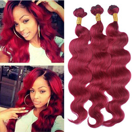 Bright color hair extensions australia new featured bright color body wave brazilian burgundy human hair extensions 3pcs 100 virgin human hair bright 99j wine red hair weave bundles 10 30inch double wefts pmusecretfo Gallery