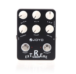 electric guitar overdrive pedal UK - Black JOYO JF-17 Guitarra Violao Guitar Effect Pedal Parts Extreme Metal Distortion for Musical Instrument Electronic 2014 New