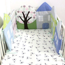 Wholesale Baby Bed Bumper In The Crib Bedding Set Breathable Safety Protectors For