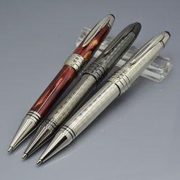 Büyük John F Kennedy Şarap kırmızı / gümüş / gri Metal tükenmez kalem ile Lüks JFK klip okul ofis malzemeleri yazma pürüzsüz MB kalemler