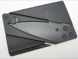 Venta al por mayor de Venta al por mayor-TK0011A / Nuevo cuchillo 50PCS con mango de acero plegable cuchillo de seguridad para acampar al aire libre herramienta de bolsillo billetera bolsillo