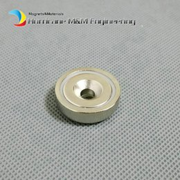 $enCountryForm.capitalKeyWord NZ - 1 pc Mounting Magnet Diameter 16-75mm Clamping Pot Magnet with Countersunk Crew Hole Strong Neodymium Permanent Holding Magnets