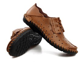 $enCountryForm.capitalKeyWord Canada - Men Leather Shoes Casual 2016 Spring Summer Fashion Shoes For Men Designer Shoes Casual Breathable Mens Shoes Comfort Loafers,size38-47