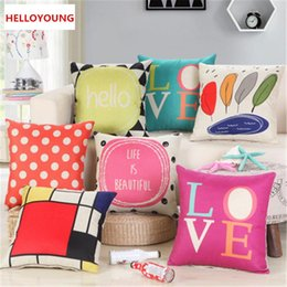 love lumbar pillow NZ - Preference Luxury Cushion Cover Pillow Case Home Textiles supplies Lumbar Pillow Happiness and love pillows chair seat
