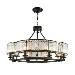 $enCountryForm.capitalKeyWord UK - Vintage Loft Style Crystal Lighting Fixture Bronze Black Crystal Chandelier Lamp Shade lamps for Living Room E14 Led lamp