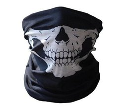 Discount skull half face paintball mask - Cool Skull Bandana Bike Helmet Neck Face Mask Paintball Ski Sport Headband new fashion good quality low price Party Supp