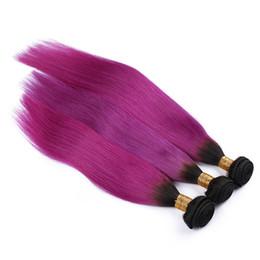 $enCountryForm.capitalKeyWord Canada - 8A Cheap Ombre 1B Pink Brazilian Straight Hair 3 Bundles Colored Two Tone Human Hair Weaves Ombre Brazilian Hair Extensions