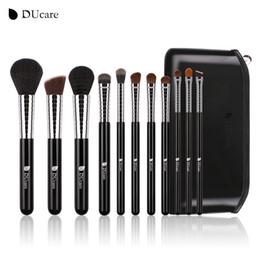 $enCountryForm.capitalKeyWord Australia - Ducare New Professional Makeup Brush Set 11pcs High Quality Makeup Tools Kit With Top Leather Bag Copper Ferrule