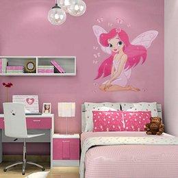 Fairy Princess Butterly Decals Art Mural Wall Sticker Kids Girl Room Decor  Pink Color