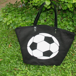 $enCountryForm.capitalKeyWord Canada - Cotton Canvas Soccer Tote Wholesale Blanks Soccer purse with PU Handle and Magnetic Snap Closure Team Accessories Free Shipping DOM106294