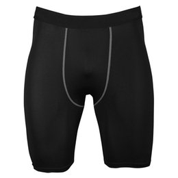 hot compression shorts NZ - Wholesale-Lanbaosi Hot Sale Men Compression Shorts Base Layer Running Crossfit Tennis Wicking Quick Dry Sports Wear