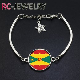 Cup Chain Settings Australia - 2017 Fashion Jewelry Grenada football team Flag bracelet Hand-made World Cup Alloy bracelet Bracelet Bangle