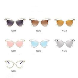 4e81b8c6649a 7 Colors Cat Eye Sunglasses Personality Sunglasses for Unisex Luxury Brand  Vogue Glasses European and American Eyewear CCA7846 100pcs supplier  european eye ...