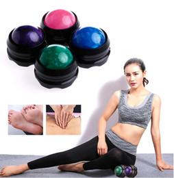 Massager manuel balle rouleau Secrets efficace de la douleur du corps de secours Relaxez soins de santé Massage Balles Roller en Solde
